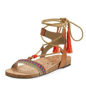 Circus Sam Edelman Lace Up Tassel Sandals 8.5M